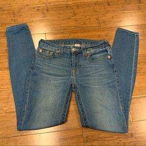True Religion Medium Blue Curvy Skinny Jeans